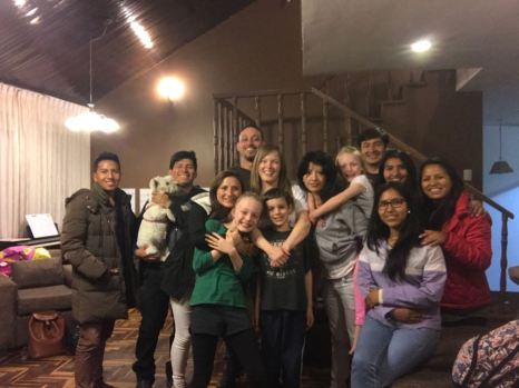 "Students over on our last night in Cusco to say ""see you later."""